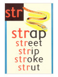 STR for Strap Poster