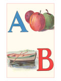A, Apples, B, Boat Prints
