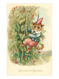 Cat as Jack and the Beanstalk Art