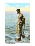 Hawaiian Fisherman Prints