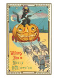 Halloween, Pumpkin Carriage Drawn by Mice Poster