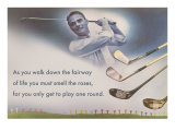 Golf Clubs and Adage Posters