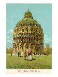 Baptistry, Pisa, Italy Prints