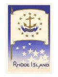 Flag of Rhode Island Kunstdrucke