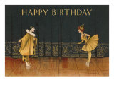 Happy Birthday, Pierrot and Pierrette Prints