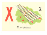 X is for Xylophone Poster