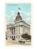 City Hall, Savannah, Georgia Prints