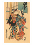 Japanese Woodblock, Couple Posters