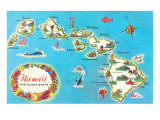 Map of Hawaii Poster