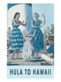 Hula to Hawaii Poster