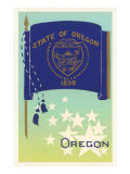 Flag of Oregon Prints