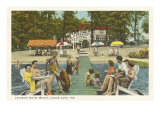 Lakeside Hotel, Clear Lake, Indiana Prints