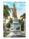King Kamehameha Statue, Honolulu, Hawaii Poster