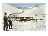 Sun Valley, Idaho, Skiers Looking over Town Prints