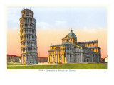 Cathedral and Tower of Pisa, Italy Art