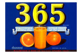365 Orange Crate Label Poster