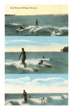 Surfing Scenes, Hawaii Poster