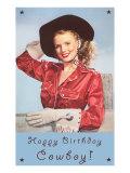 Happy Birthday Cowboy Art