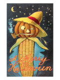 Merry Halloween, Corn Cob Creature Posters