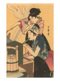 Japanese Woodblock, Cooking Pósters