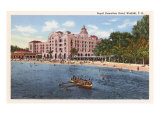 Royal Hawaiian Hotel, Waikiki, Hawaii Poster