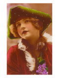 Girl in Green Tri-Cornered Hat Poster