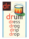 DR for Drum Plakater