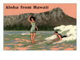 Aloha from Hawaii, Old Fashioned Surfers Posters