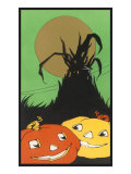 Two Happy Jack O'Lanterns Print