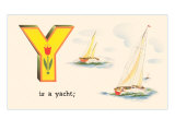 Y is a Yacht Poster
