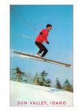 Sun Valley, Idaho, Air Borne Skier Print