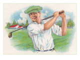 Smiling Golfer Posters