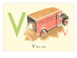 V is for Van Posters