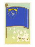 Flagge Nevadas Giclée-Premiumdruck