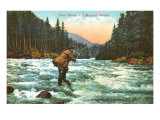 Trout Fishing in a Mountain Stream Art