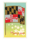 Flag of Maryland Prints