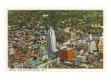 Aerial View of Ft. Wayne, Indiana Prints