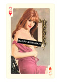 Happy Birthday, Pin-Up on Playing Card Art