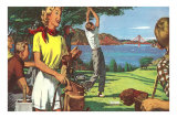 Golfing in San Francisco Prints