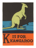 K is for Kangaroo Posters