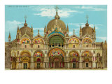 St. Mark's Basilica, Venice, Italy Prints