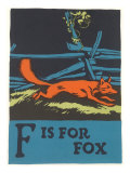 F is for Fox Affischer