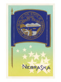 Flag of Nebraska Poster
