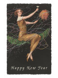 Happy New Year, Lady in Confetti Posters