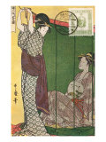 Japanese Illustration, Two Geishas Prints