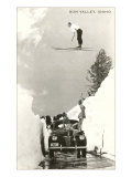 Sun Valley, Idaho, Ski Jumper Over Car Photo