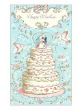 Happy Wishes, Wedding Cake Print