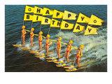 Joyeux anniversaire - Ski nautique Art