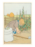 Girl Gardening Peppers Prints