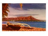 Diamond Head, Waïkiki, Hawaï Affiches